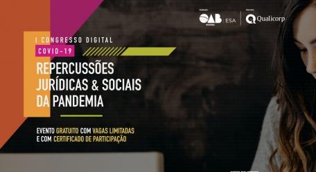 "Carlos Harten vai mediar debate no ""I Congresso Digital COVID-19: Repercussões Jurídicas & Sociais da Pandemia"""